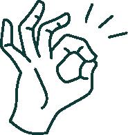 手のアイコン